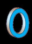 0-3d number nought Blue - John Duffield duffield-design