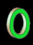 0-3d number nought Green - John Duffield duffield-design