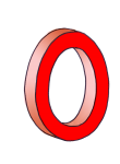 0-3d number nought Red - John Duffield duffield-design