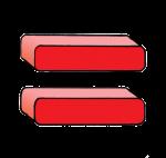 1-3d Symbols Equals-Red