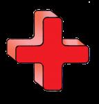 1-3d Symbols Plus-Red