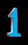1-3d number one Blue - John Duffield duffield-design