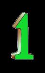 1-3d number one Green - John Duffield duffield-design
