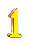 1-3d number one Yellow - John Duffield duffield-design