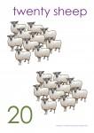 Multiples of 10 to 90 Poster - 20 Sheep Bev Dunbar Maths Matters