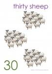 Multiples of 10 to 90 Poster - 30 Sheep Bev Dunbar Maths Matters