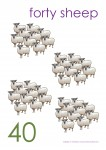 Multiples of 10 to 90 Poster - 40 Sheep Bev Dunbar Maths Matters