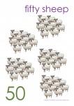 Multiples of 10 to 90 Poster - 50 Sheep Bev Dunbar Maths Matters