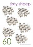 Multiples of 10 to 90 Poster - 60 Sheep Bev Dunbar Maths Matters