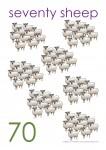 Multiples of 10 to 90 Poster - 70 Sheep Bev Dunbar Maths Matters