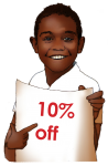 10 Percent Discount Sign John Duffield duffield-design
