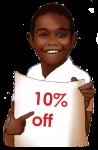 10 Percent Discount Sign John Duffield duffield-design