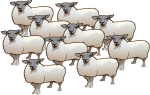 10 Sheep - farm - place value