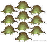 10 stegosaurus - place value John Duffield duffield-design