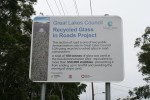 100 tonnes Recycled Glass Road Sign Bev Dunbar Maths Matters
