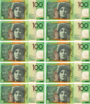 $1000 as $100 notes Bev Dunbar Maths Matters