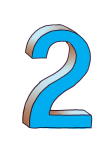 2-3d number two Blue - John Duffield duffield-design