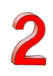 2-3d number two Red - John Duffield duffield-design