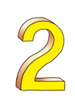 2-3d number two Yellow - John Duffield duffield-design