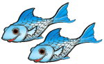 2 blue fish John Duffield