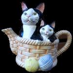 2 cats teapot Bev Dunbar Maths Matters