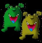 2 monsters John Duffield
