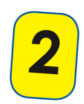 2 rounded digit card