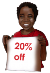 20 Percent Discount Sign John Duffield duffield-design