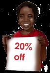 20 Percent Discount Sign John Duffield duffield-design
