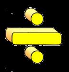3-3d Symbols Division-Yellow