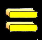 3-3d Symbols Equals-Yellow