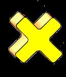 3-3d Symbols Times-Yellow