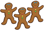 3 Gingerbread Counters John Duffield
