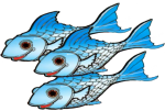 3 blue fish John Duffield