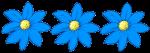 3 flowers - all blue - fractions - John Duffield