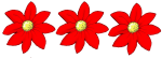 3 flowers - all red - Fractions - John Duffield