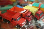 3 old toy trucks $5.95 each