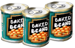 3 tins Baked Beans John Duffield