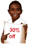 30 Percent Discount Sign John Duffield- duffield design