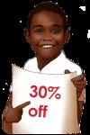30 Percent Discount Sign John Duffield- duffield design