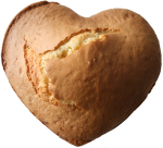 35 minutes to bake Heart shaped cake at 160 degrees C