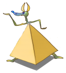 3D Object Square Pyramid Anubis - John Duffield duffield-design