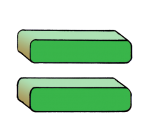 4-3d Symbols Equals-Green