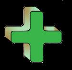 4-3d Symbols Plus-Green