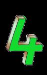 4-3d number four Green - John Duffield duffield-design