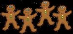 4 Gingerbread Counters John Duffield