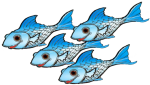 4 blue fish John Duffield