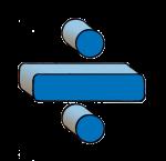 5-3d Symbols Division-Blue