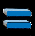 5-3d Symbols Equals-Blue