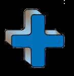 5-3d Symbols Plus-Blue